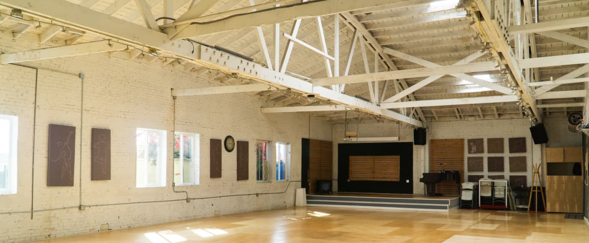 ENTIRE 5,000 sq ft Warehouse Dance Studio Space with Kitchen, Stage, and Lounge Area in Los Angeles Hero Image in Park Mesa Heights, Los Angeles, CA