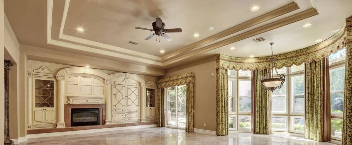 Summerlin Luxury Home Open & Spacious w/High Ceilings, Big Windows & Backyard Oasis w/Huge Fireplace in Las Vegas Hero Image in Summerlin West, Las Vegas, NV