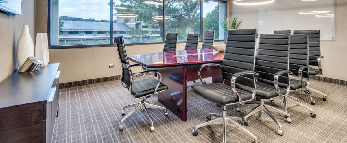 10 Person Conference Room w/ a TV - Whiteboard - View in Irving Hero Image in Las Colinas, Irving, TX