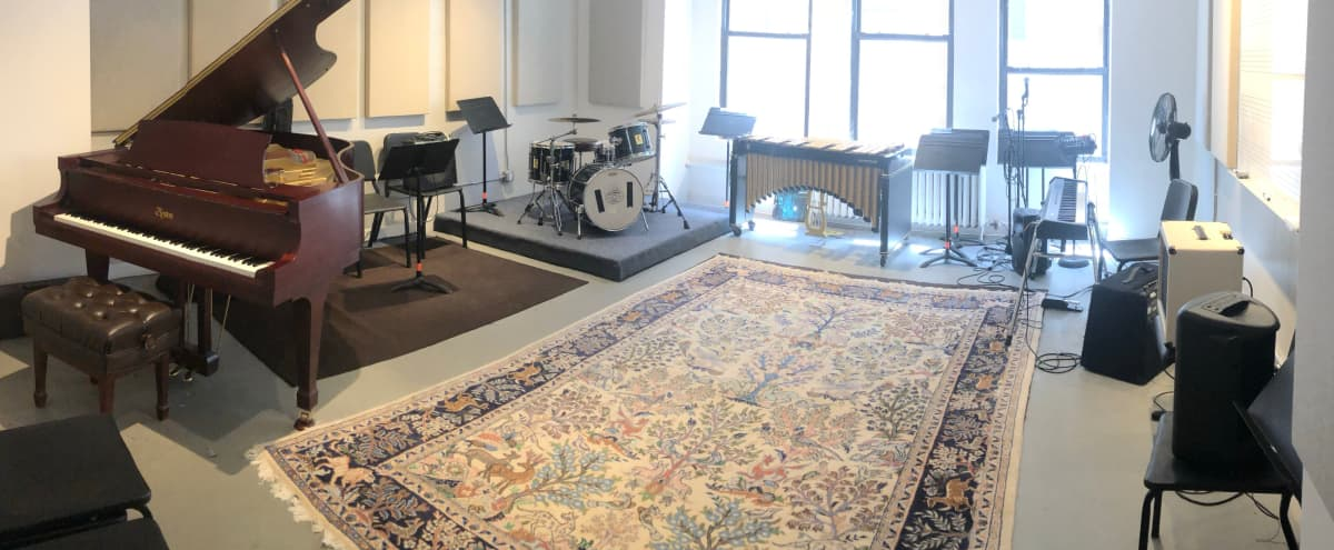 Large Room with Natural Light Perfect for Music Rehearsals in NewYork Hero Image in Midtown Manhattan, NewYork, NY
