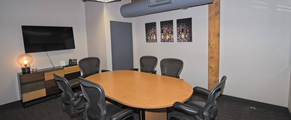 Downtown Private Conference Room for 6 in Minneapolis Hero Image in North Loop, Minneapolis, MN