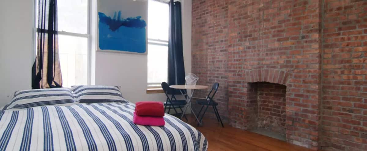 Artsy Modern Brick-Exposed Artist Studio in Brooklyn, NY Hero Image in Bedford-Stuyvesant, Brooklyn, NY, NY