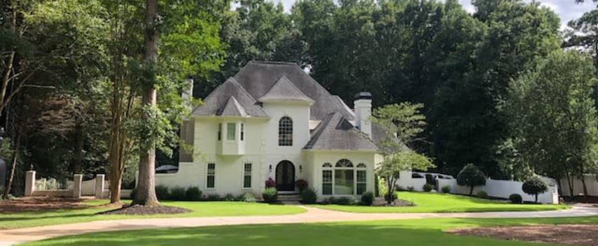 Modern French Chateau Home with In-ground Pool in Fayetteville Hero Image in undefined, Fayetteville, GA