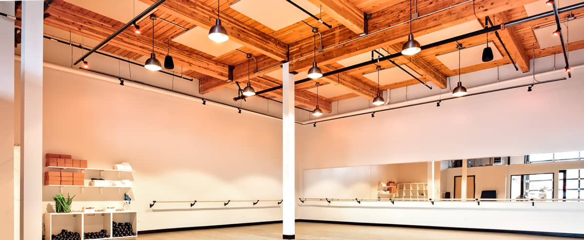 Large Modern Fitness Studio in Frelard in Seattle Hero Image in West Woodland, Seattle, WA