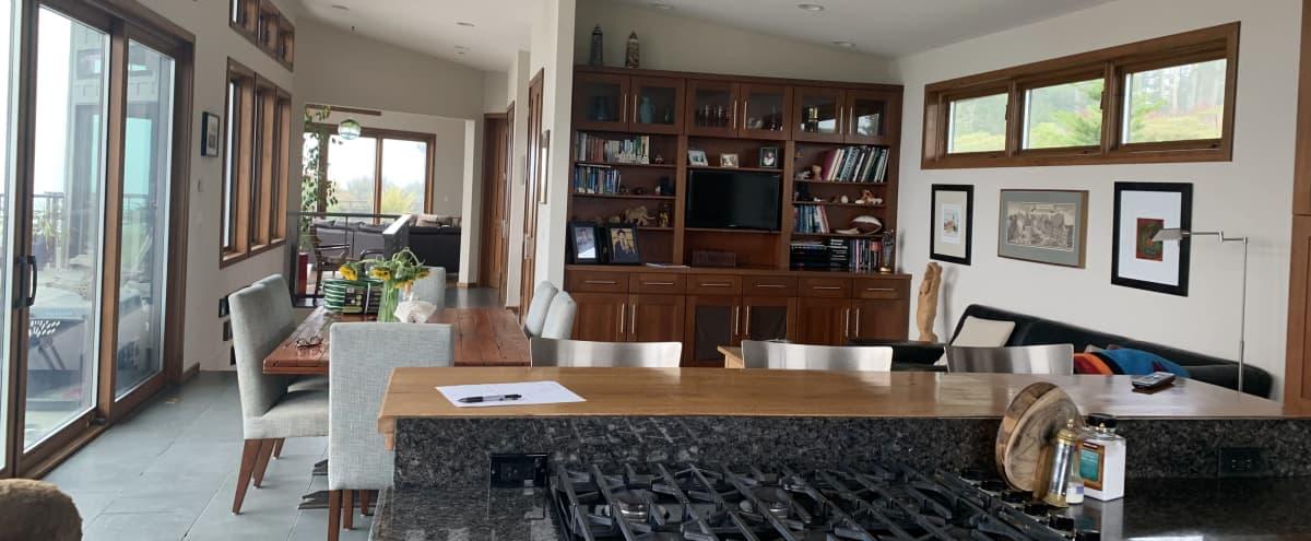 Impressive Ocean View Deck and Living/Dining Space in Muir Beach Hero Image in undefined, Muir Beach, CA