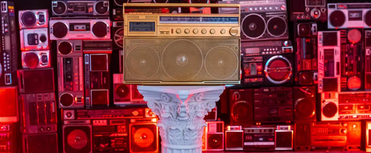 Boombox wall / Retro / Projector Studio in Brooklyn Hero Image in East Williamsburg, Brooklyn, NY
