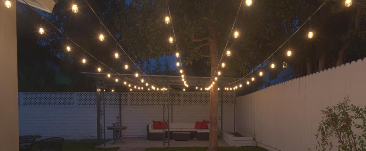 "CHARMING GARDEN PARTY WITH LUSH ""GRASS""/TEA LIGHTS/CABANA in Encino Hero Image in Encino, Encino, CA"