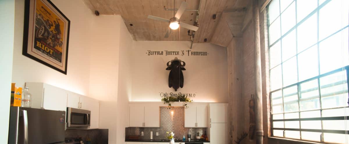Urban Deep Ellum Loft/Studio w/IndustrialMid-Century Styling - HUGE WINDOWS & NATURAL LIGHT in Dallas Hero Image in Deep Ellum, Dallas, TX