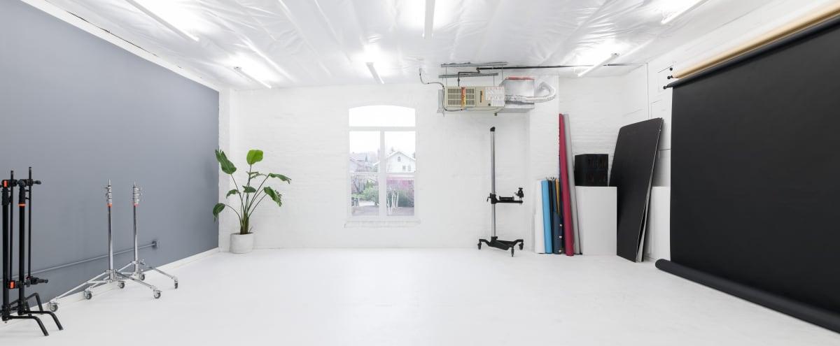 Beautiful Industrial White Brick Photo/Video Studio, Gear Included in Everett Hero Image in Riverside, Everett, WA