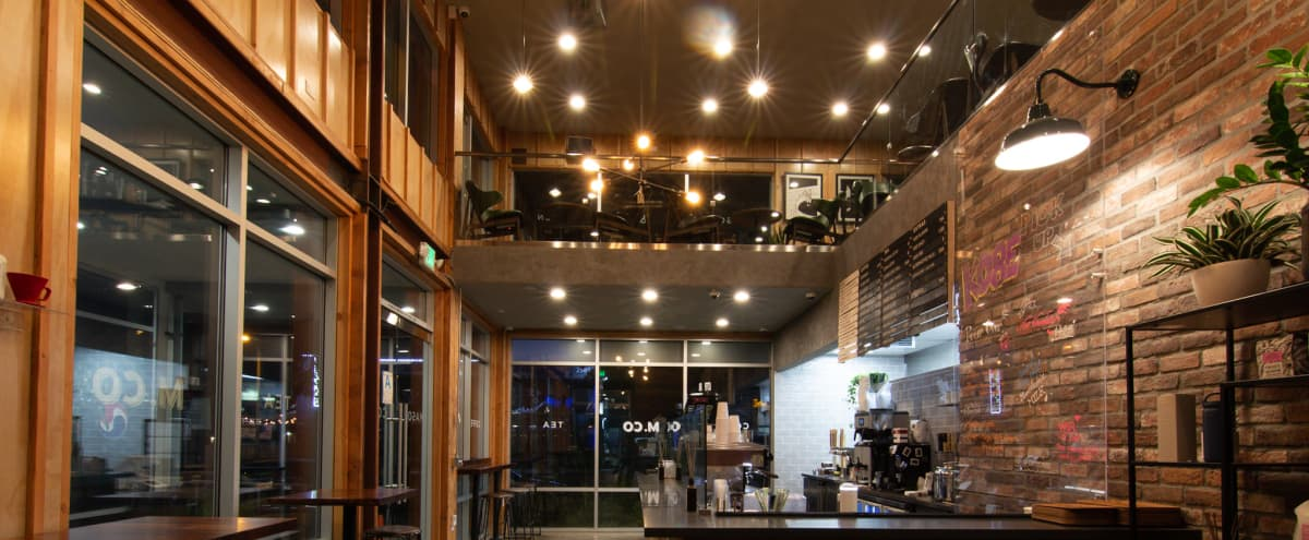 Newly Built & Spaciously Stunning Two-Story Cafe/Expresso Bar + Outdoor Patios (on both floors) + HUGE PARKING LOT (DTLA | Koreatown | Pico-Union) in Los Angeles Hero Image in Pico Union, Los Angeles, CA
