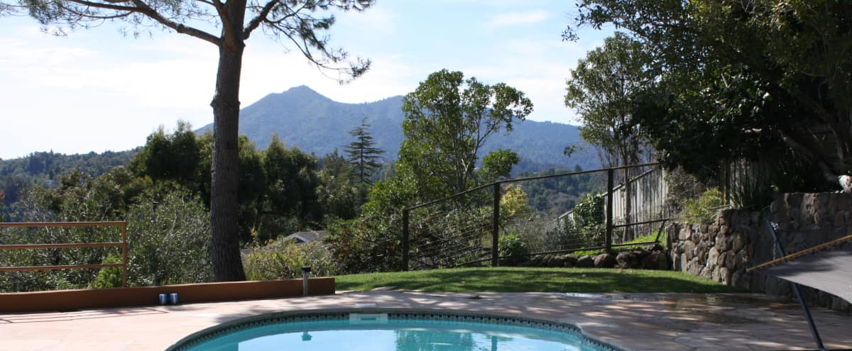 LARGE UNIT ON 3/4 ACRE with stunning views of Mt. Tamalpais and the San Fran Bay! SALTWATER POOL!! in San Rafael Hero Image in undefined, San Rafael, CA
