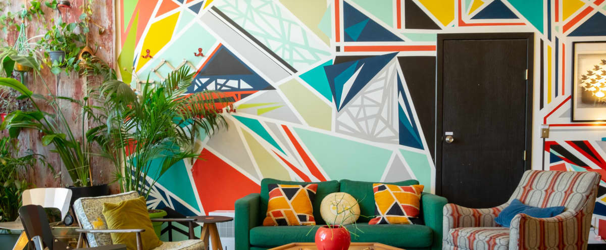 Vintage+urban loft: murals, exposed brick, greenery! in Chicago Hero Image in Humboldt Park, Chicago, IL