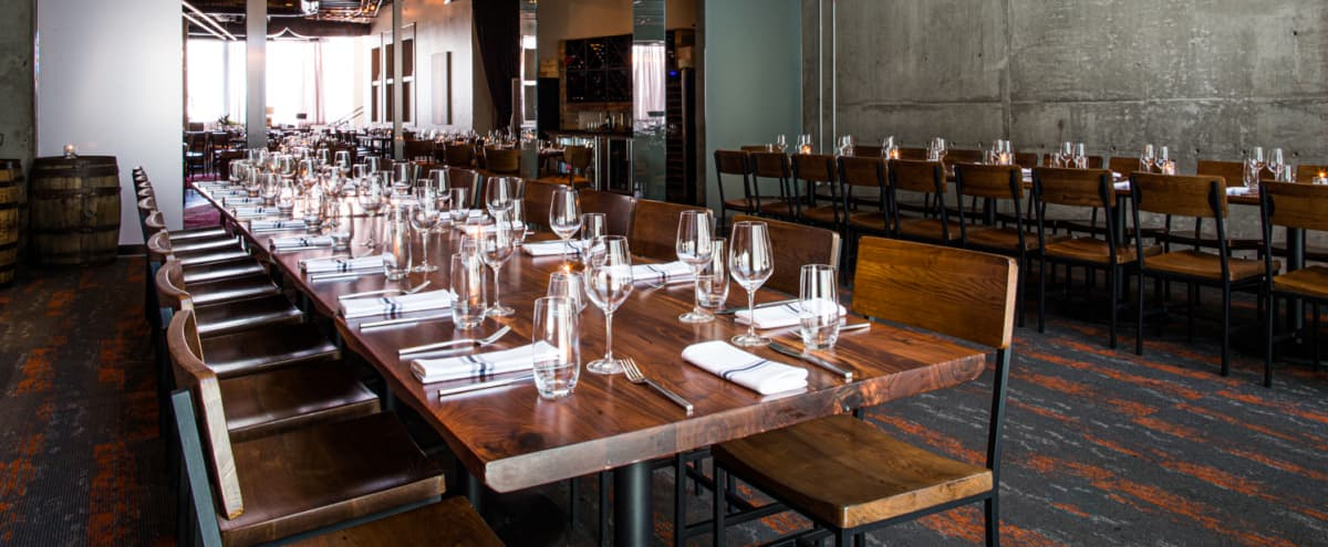 Warm and Modern Private Dining Room in Nashville Hero Image in The Gulch, Nashville, TN