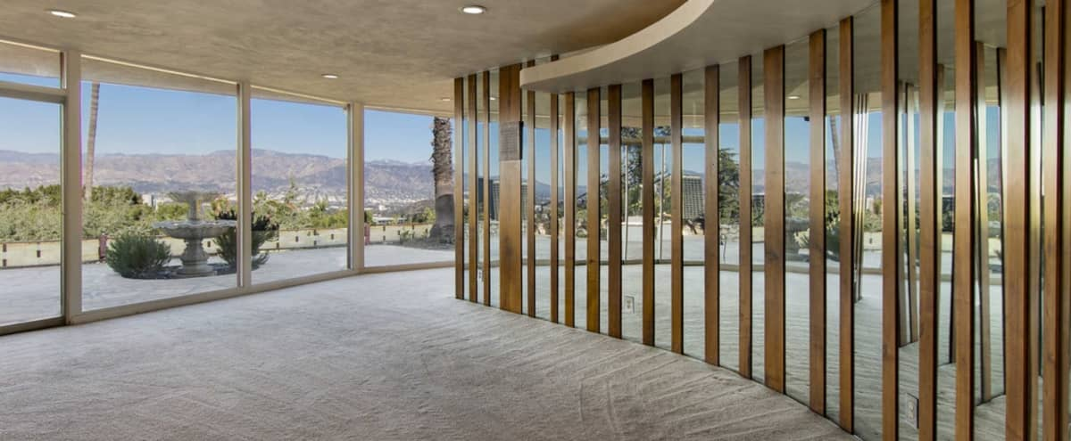 Perched on hill top, Mid Century Modern, 60s style, incredible degree views in Los Angeles Hero Image in Studio City, Los Angeles, CA