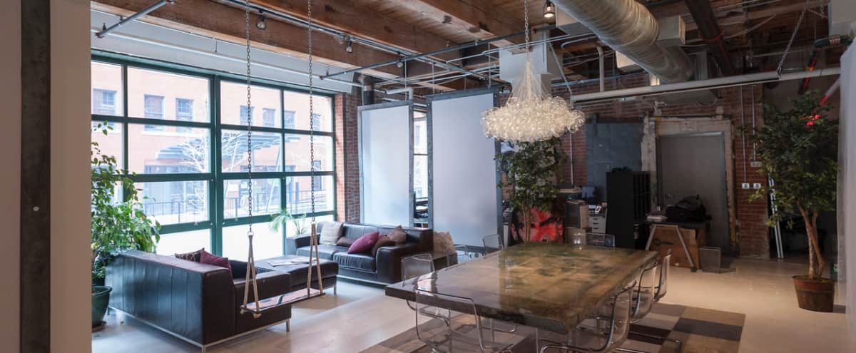 Meeting Retreat Lounge Space in Stunning Production Studio in Boston Hero Image in Fort Point, Boston, MA