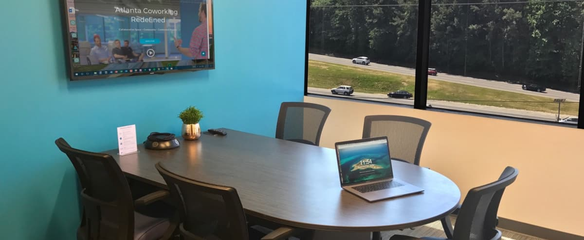 5 Person Meeting Room in Creative Space Located in Dunwoody in Atlanta Hero Image in undefined, Atlanta, GA