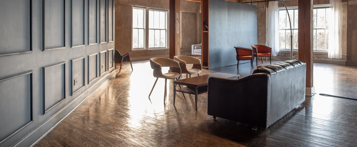 NSR LOFT ONE // Industrial Studio with Natural Light with Transitional Sets - Warehouse District Downtown Houston in Houston Hero Image in Downtown Houston, Houston, TX