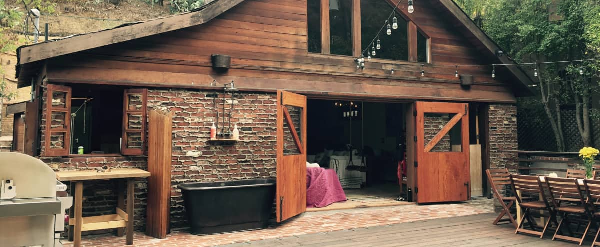 Rustic Rock n' Roll Cabin in Los Angeles Hero Image in Hollywood Hills West, Los Angeles, CA