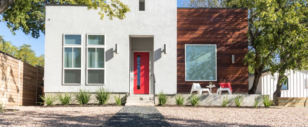 East Austin Home with Spacious Patio and Open Living/Dining/Kitchen in Austin Hero Image in East Austin, Austin, TX
