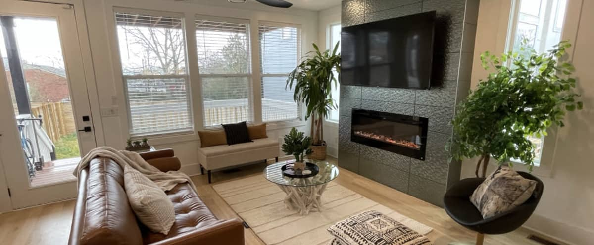 Modern Home With Trendy Decor And Outdoor Space By Downtown Nashville And Germantown in Nashville Hero Image in Buena Vista Heights, Nashville, TN