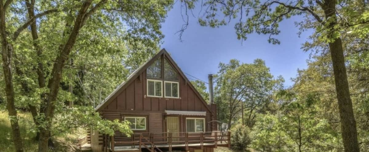 Modern, Remodeled A-Frame in Woodland Setting | Film/Photo Location in Cedar Glen Hero Image in Cedar Glen, Cedar Glen, CA