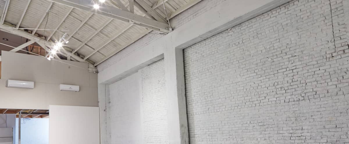 White Brick Production Studio with Skylights (with AC & Heat) in Los Angeles Hero Image in Central LA, Los Angeles, CA