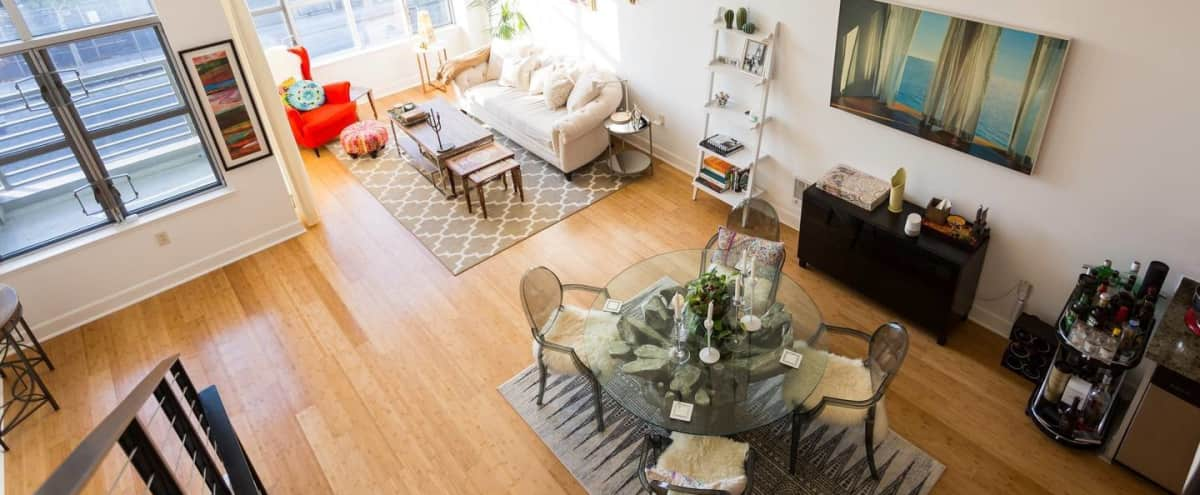 Eclectic Contemporary SOMA Loft: 18 ft Ceilings, Tons of Natural Light in San Francisco Hero Image in South of Market, San Francisco, CA