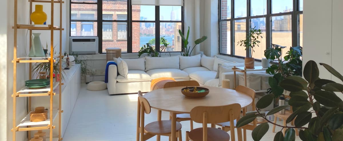 Bright, Scandinavian-inspired designer loft with skyline views in heart of Williamsburg, Brooklyn in Brooklyn Hero Image in Williamsburg, Brooklyn, NY