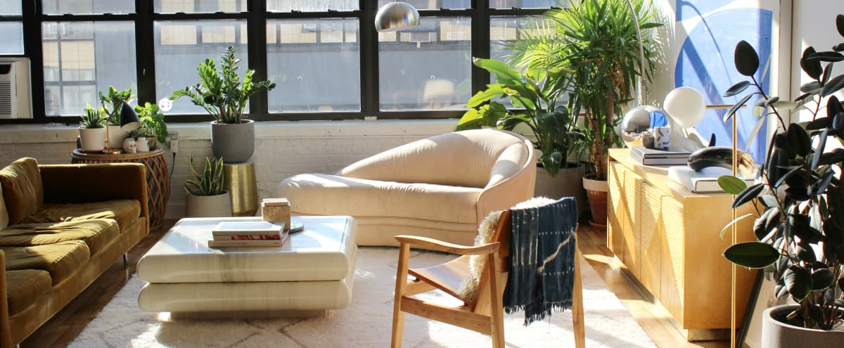 Luxe 70s Brooklyn Loft - Light-Flooded, Chic, South Facing in Brooklyn Hero Image in East Williamsburg, Brooklyn, NY