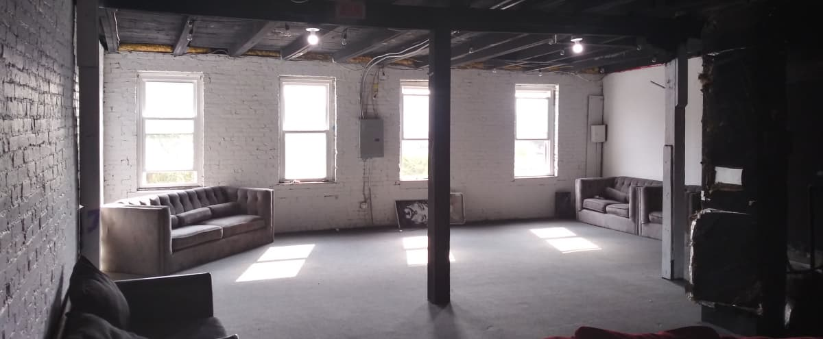 Lofted Creative Space with Great Natural Light + Exposed White Brick in Baltimore Hero Image in Canton, Baltimore, MD