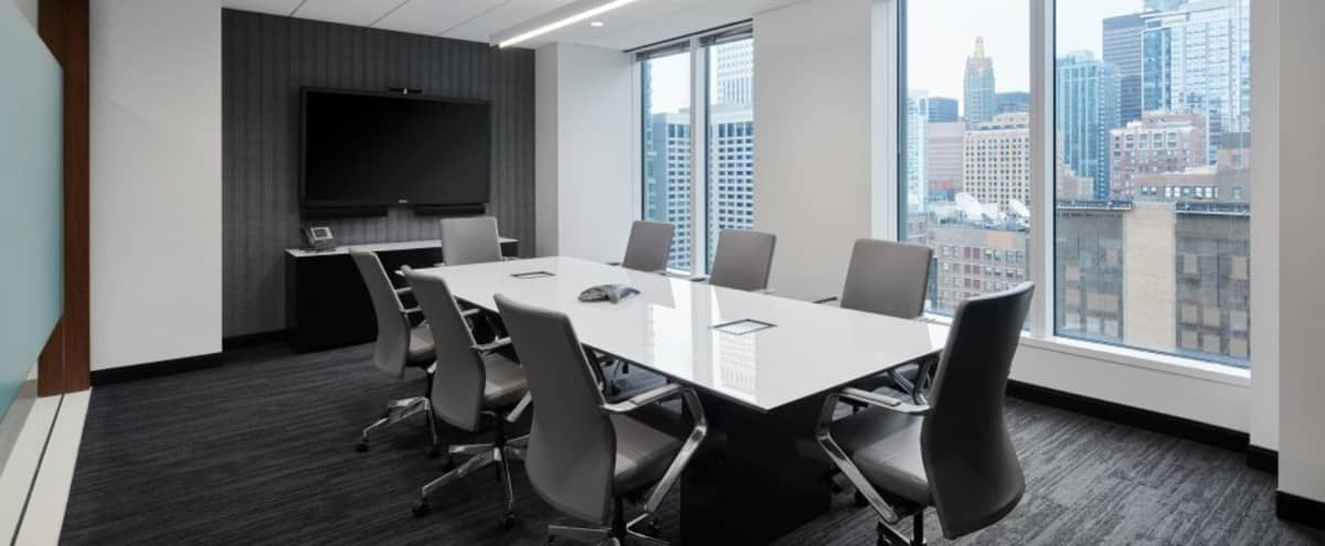 Contemporary Conference Room near CTA Lines in Chicago Hero Image in Chicago Loop, Chicago, IL