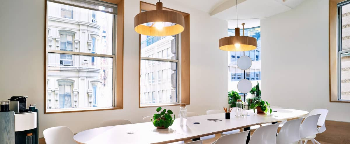 Scandinavian-Inspired Meeting Room in New York Hero Image in Financial District, New York, NY