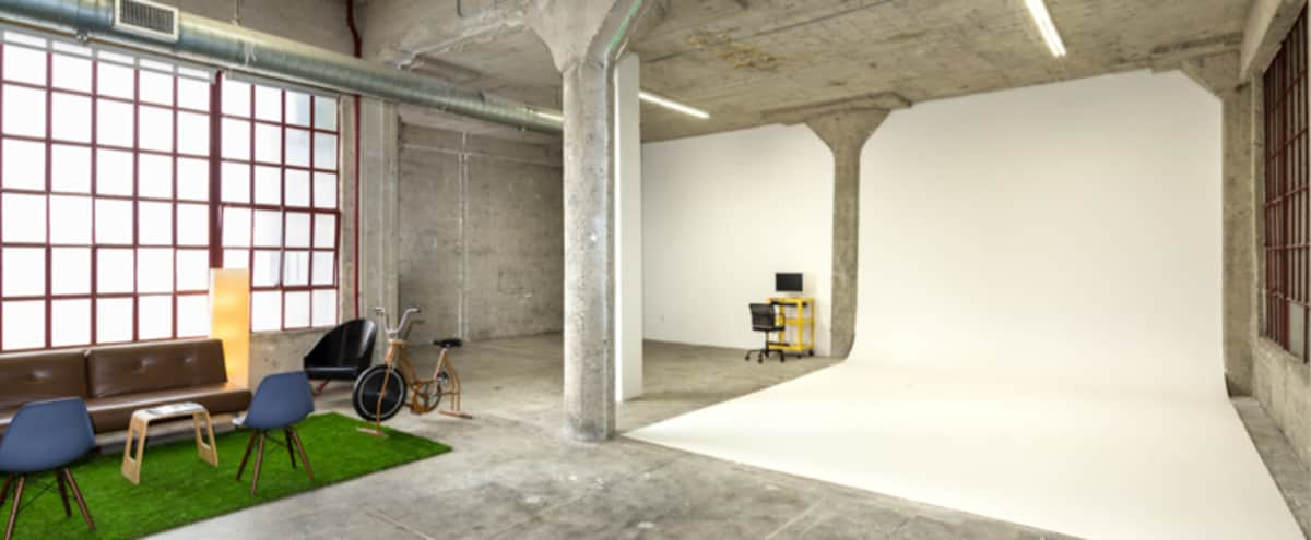 Studio + Production Office // Huge Downtown Industrial Studio With Natural Lighting and Office Space in Los Angeles Hero Image in Central LA, Los Angeles, CA