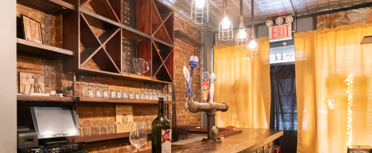 Rustic Tavern Event Space + BAR area in New York Hero Image in Lower East Side, New York, NY