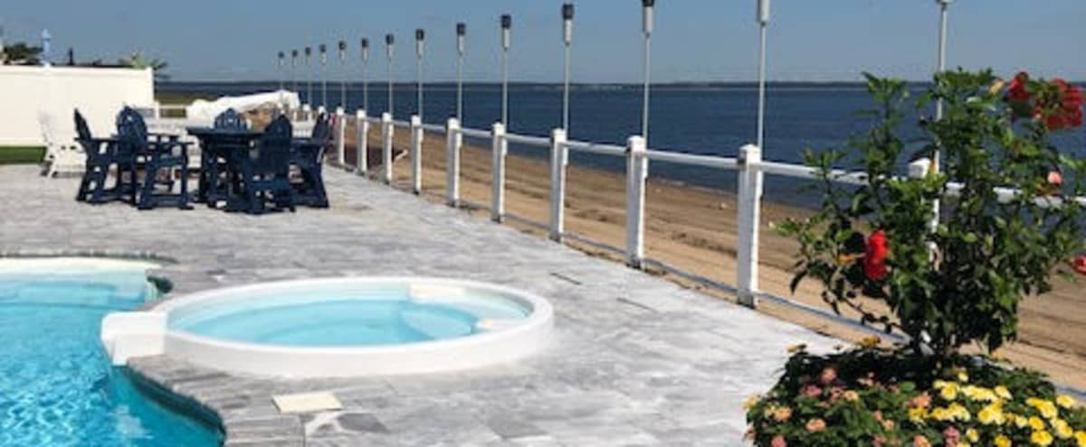 Beach House Oasis For Shoots, Outdoor Pool Right on the Beach! in Union Beach Hero Image in undefined, Union Beach, NJ