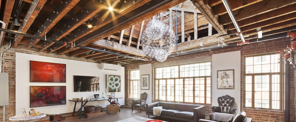 West Village Open Loft with Rooftop in New York Hero Image in West Village, New York, NY
