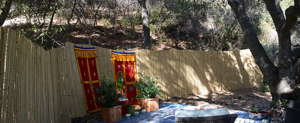 Meditation/Exercise/Meeting area under a Canopy of Oak Branches in Topanga Hero Image in Sylvia Park, Topanga, CA