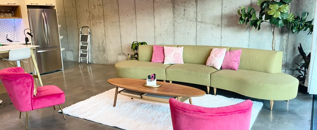 Modern Luxury Apartment- Pink/Green/Gold Eclectic in Brooklyn Hero Image in Bedford-Stuyvesant, Brooklyn, NY