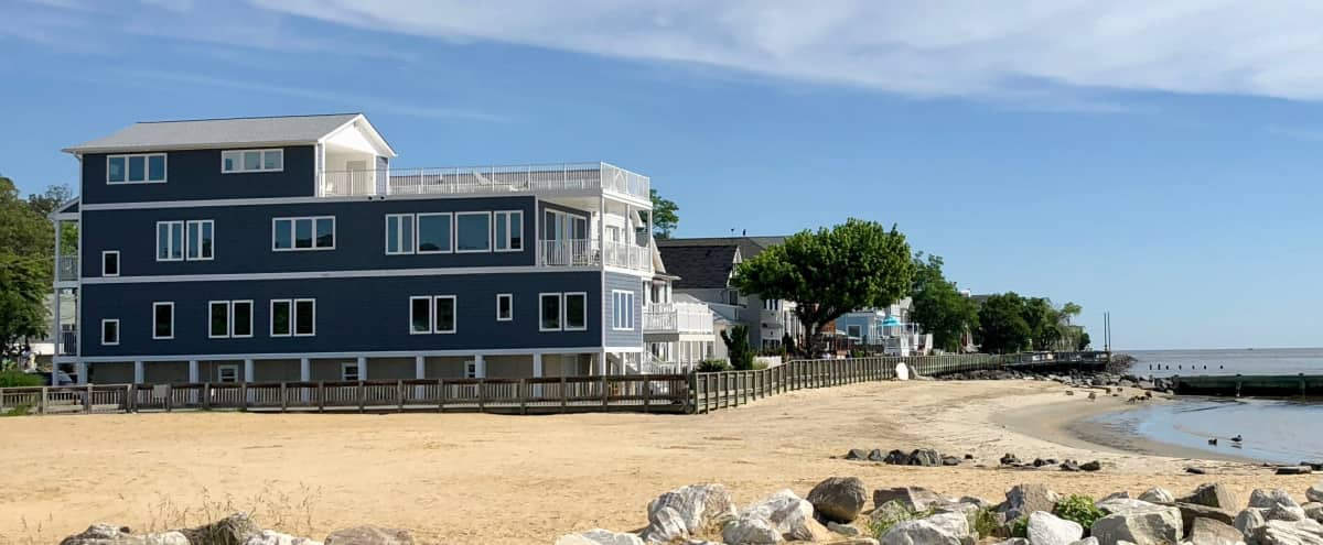Chesapeake Bay Waterfront Retreat with Fast WiFi and Amazing Rooftop Deck in North Beach Hero Image in undefined, North Beach, MD
