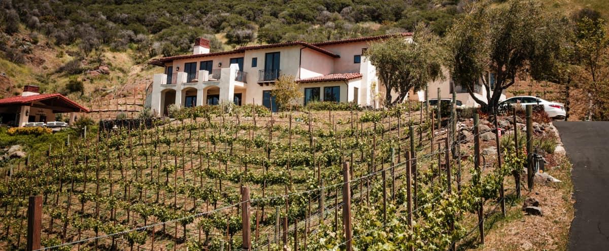 Tuscan Style Vineyard Estate with Panoramic  Mountain Views in Malibu Hero Image in undefined, Malibu, CA