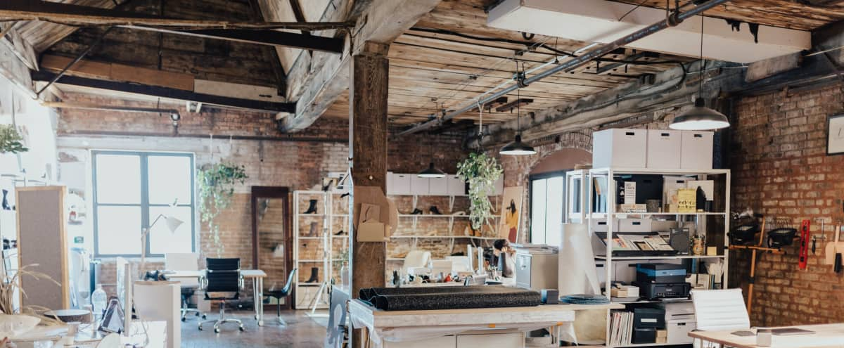 Charming Loft with Manhattan View and Exposed Brick in Brooklyn Hero Image in Greenpoint, Brooklyn, NY