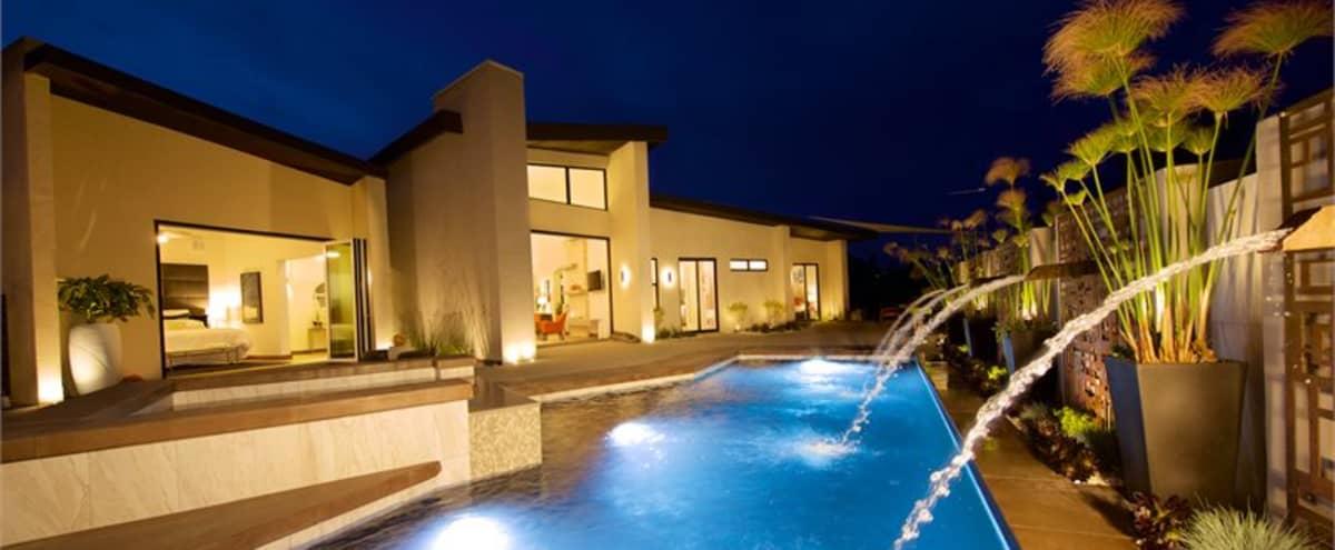 Urban yet Secluded Luxury Home w/ Outdoor Modern Retreat Pool, Spa & Fire Pit in San Diego Hero Image in Roseville - Fleet Ridge, San Diego, CA