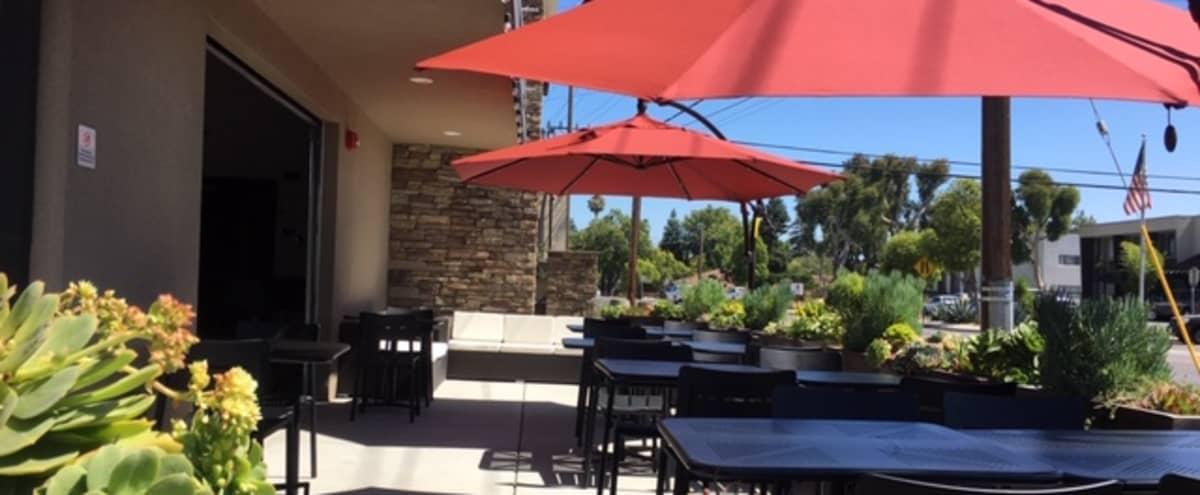 Outdoor Patio of Modern Industrial Restaurant in San Carlos Hero Image in undefined, San Carlos, CA