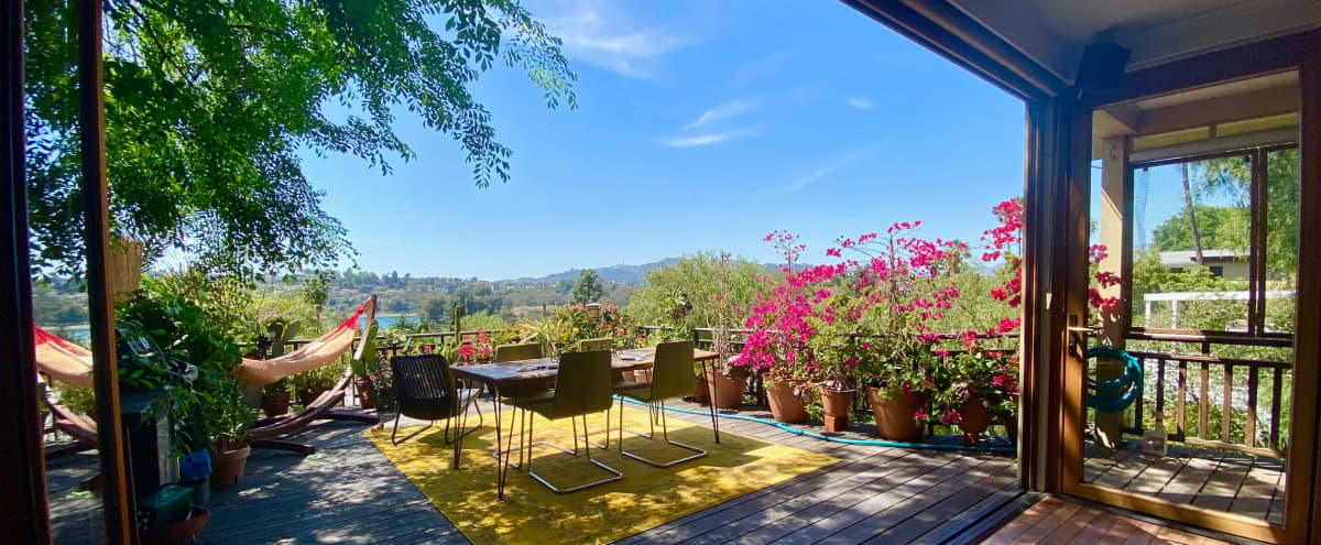 Panoramic Views, Light-Filled Home/Studio with Decks and Yard. in Los Angeles Hero Image in Silver Lake, Los Angeles, CA