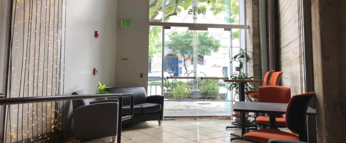 Spacious event space/office in coworkspace Urban/College vibe.  Rates starting at $65.  Ask us for a quote! in Culver City Hero Image in Downtown, Culver City, CA