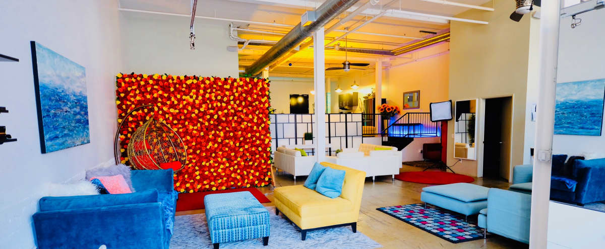 Spacious, beautifully decorated DTLA Arts District Loft/Studio with lots of areas and Rose Wall in Los Angeles Hero Image in Downtown, Los Angeles, CA