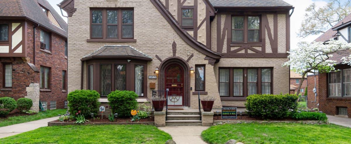 1920s Brick Tudor in Historic Detroit Neighborhood in Detroit Hero Image in University District, Detroit, MI