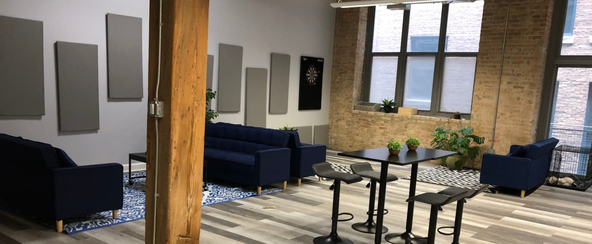 Loft Event Space (Office Space on Weekdays) in Chicago Hero Image in River West, Chicago, IL