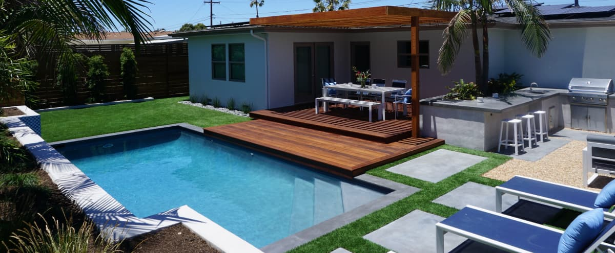 Stunning Resort Style Backyard with Pool | Perfect for Photo Shoots in San Diego Hero Image in College East, San Diego, CA