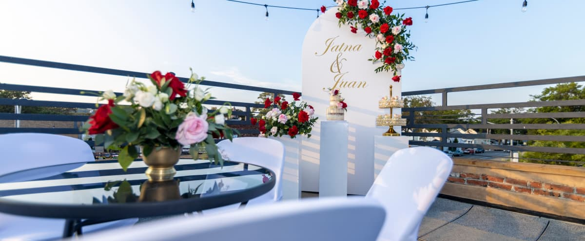 Unique RoofTop at the Heart of Atlantic Av-(Queens) Outdoor space for Dinner, Wedding, Film Shoot, Corporate Event & Small Intimate Events. in Woodhaven/QUEENS Hero Image in Queens, Woodhaven/QUEENS, NY